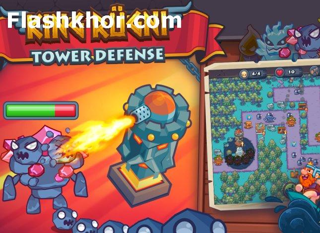 بازی دفاع از برج اندروید برج شاه وایکینگ ها