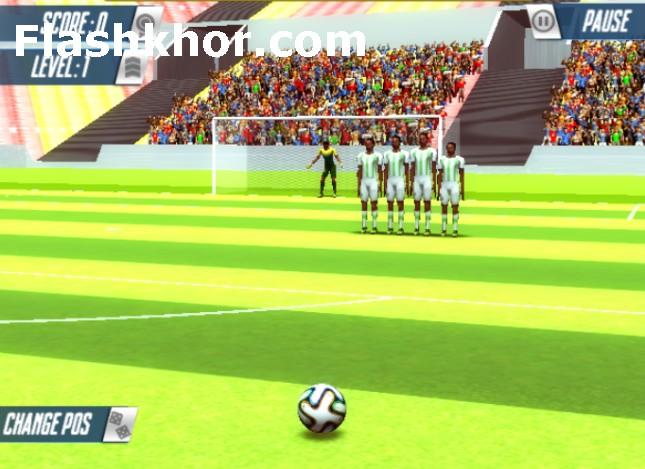 بازی ضربه آزاد آنلاین حرفه ای فوتبال اندروید