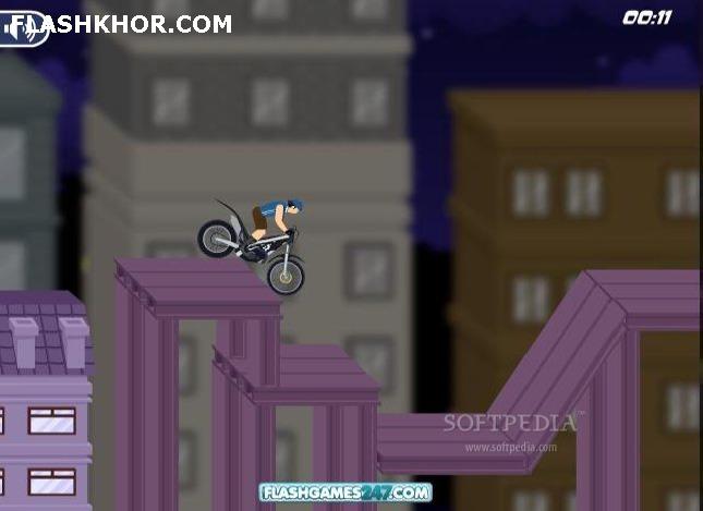 بازی آنلاین king of bikes فلش