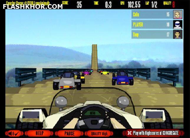 بازی آنلاین فرمول 1 کوستر ریسر فلش