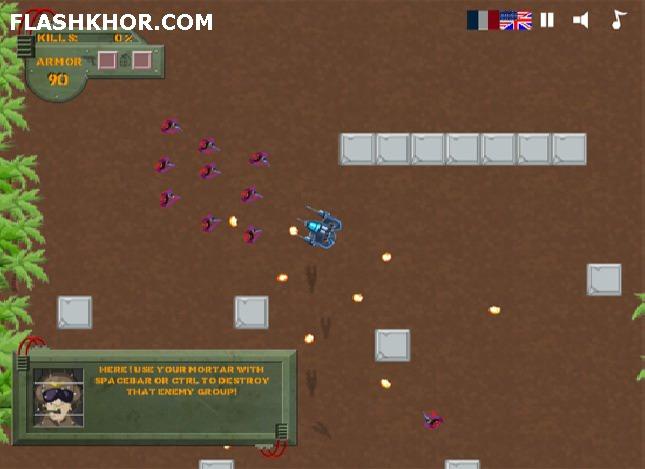 بازی آنلاین mechanical commando فلش