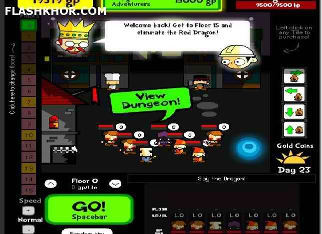 بازی آنلاین Dungeon Developer فلش