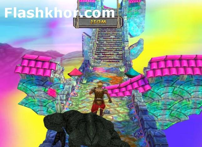بازی تمپل ران 2 شجاع جشن رنگین کمان temple run