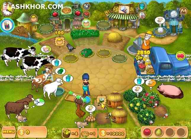 بازی آنلاین عشق مزرعه داری دخترانه فلش