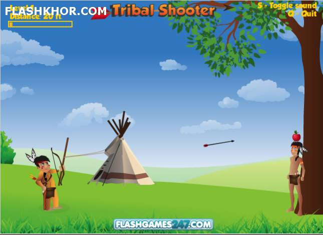 بازی آنلاین تیرانداز قبیله فلش