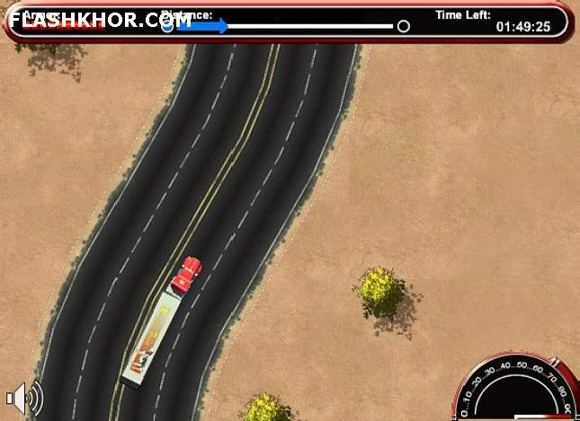 بازی آنلاین راننده کامیون دیوانه - ماشین سواری ورزشی فلش