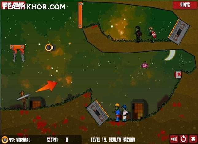 بازی آنلاین زامبوکا شعله ور 2 بسته مرحله جدید - تیراندازی فلش