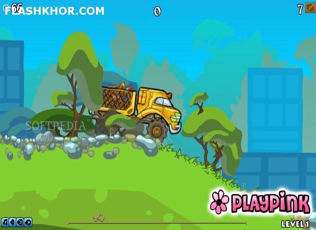بازی آنلاین کامیون باغ وحش - ماشین سواری فلش