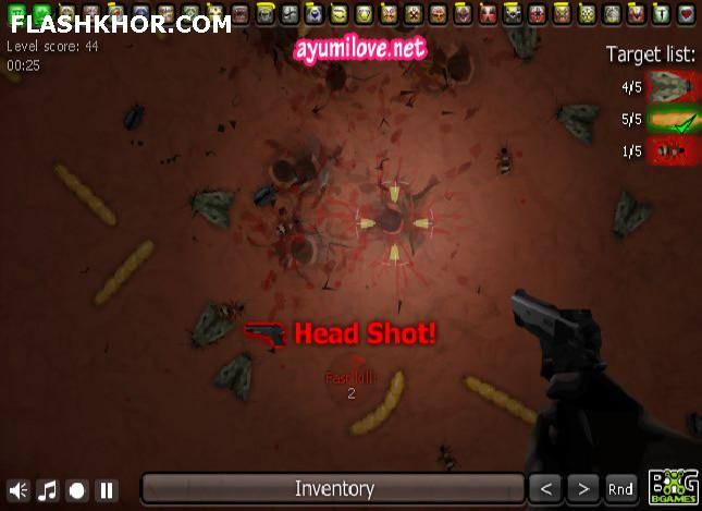 بازی آنلاین کشتار حشرات - تیر اندازی فلش