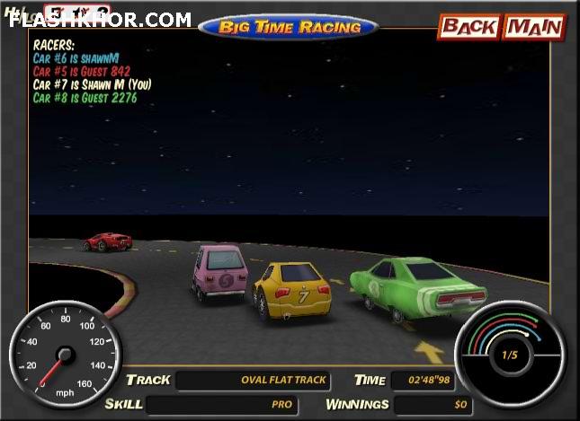 بازی آنلاین مسابقه بزرگ ماشین سواری چند نفره دو فلش