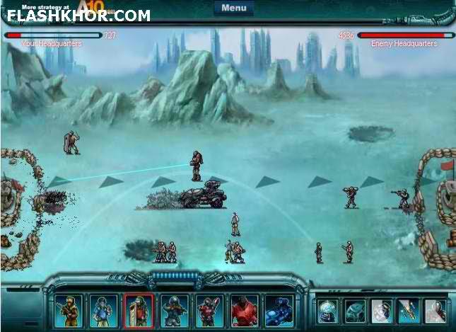 بازی آنلاین حمله به شهر - استراتژی فلش