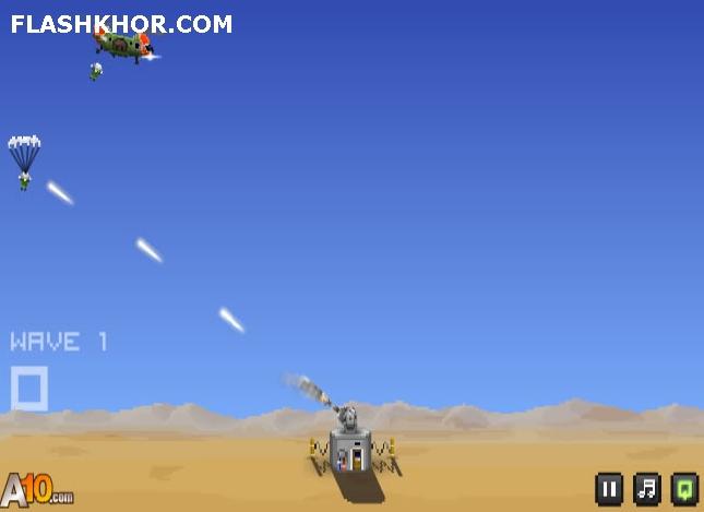 بازی آنلاین تیر اندازی به چتربازها - تیر اندازی فلش