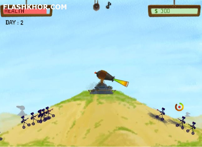 بازی آنلاین هوگو : توپ جنگی - تیر اندازی فلش