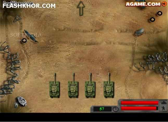 بازی آنلاین حمله با تانک - اکشن جنگی فلش