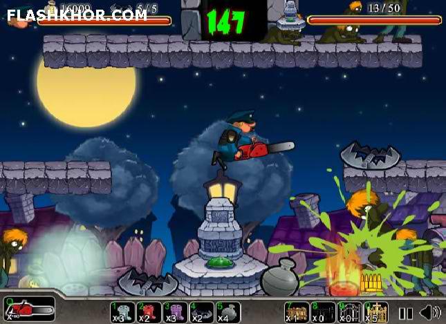 بازی آنلاین تله برای زامبی ها - تیر اندازی zombie فلش