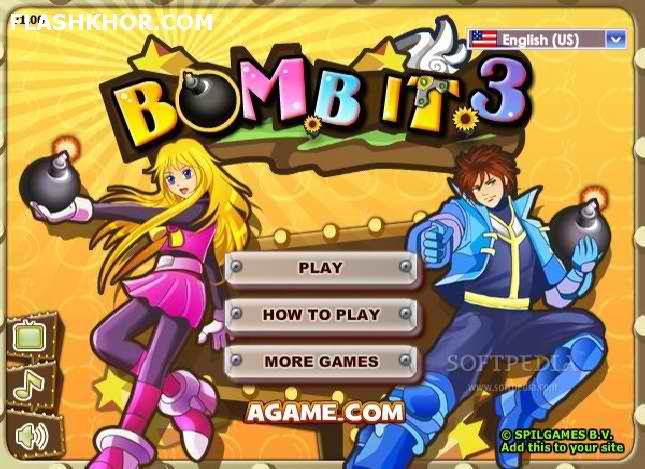 بازی آنلاین منفجر کن 3 - اکشن بمبر من bomber man فلش