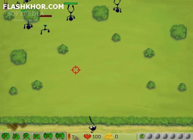 بازی آنلاین هوگو : مدافع تمام عیار - تیر اندازی فلش
