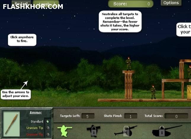 بازی آنلاین پرتاب موشک بالستیک فلش