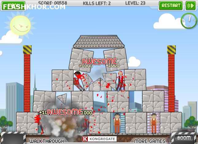 بازی آنلاین تخریبش کن - فکری فیزیک فلش