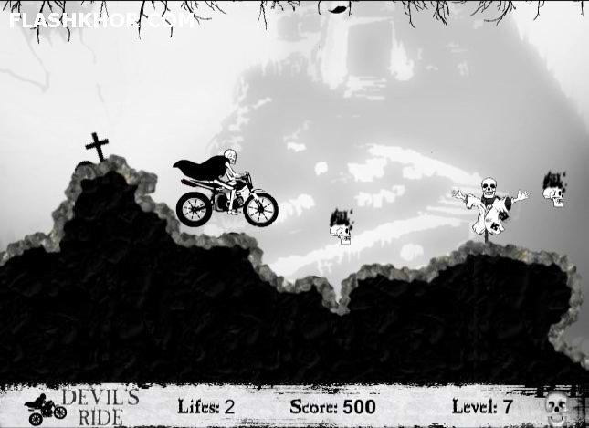 بازی آنلاین موتور شیطان - موتور سواری فلش