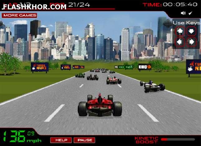 بازی آنلاین اتومبیل رانی فرمول 1 - ماشین سواری فلش