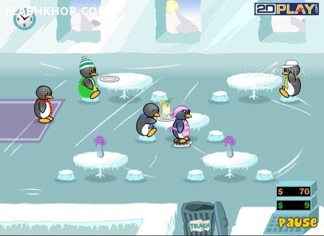 بازی آنلاین پنگوئن رستوران دار 2 - دخترانه استراتژی فلش