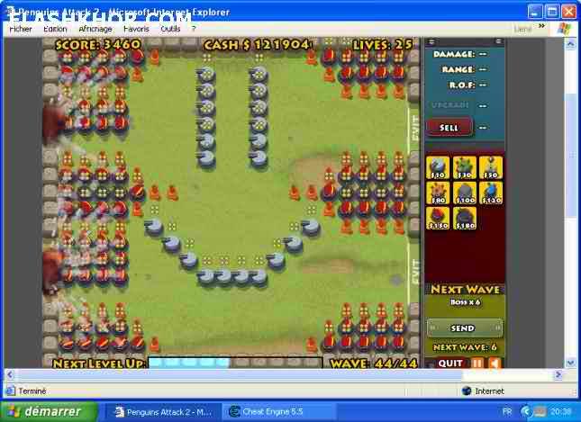 بازی آنلاین حمله پنگوئن ها 2- استراتژی جنگی فلش