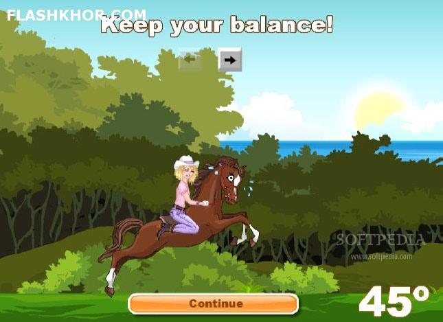 بازی آنلاین مسابقه سواری  حیوانات -دخترانه ورزدشی سواری فلش