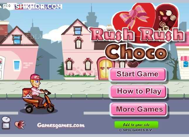 بازی آنلاین بده بده شکلات - دخترانه موتور سواری فلش