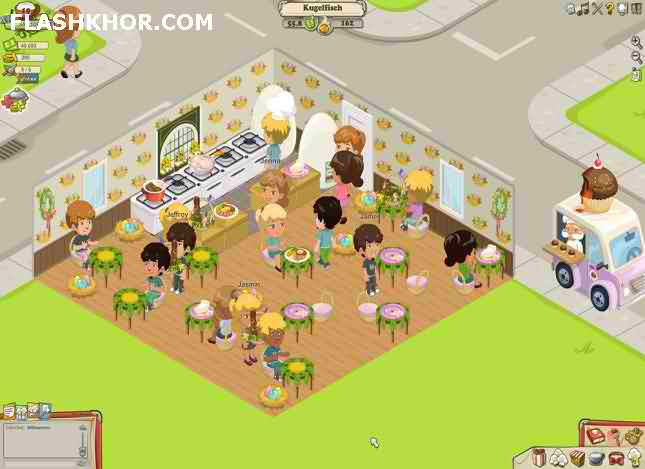 بازی آنلاین کافه دار سخت کوش - دخترانه دو نفره فلش