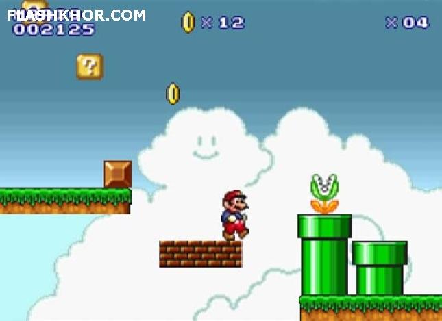 بازی آنلاین سوپر ماریو فلش - قارچ خور ماجرایی فلش