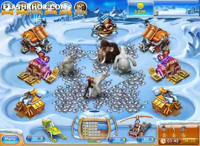 بازی آنلاین مزرعه داری فرنزی 3 : عصر یخبندان - دخترانه فلش