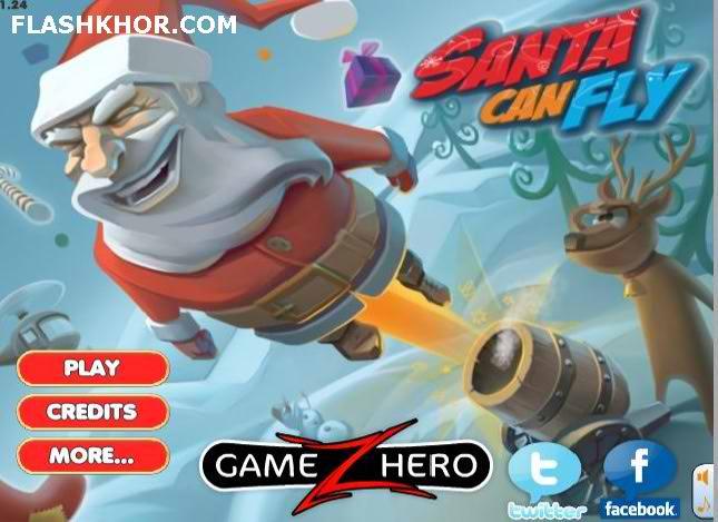 بازی آنلاین پرواز بابانوئل - تیر اندازی فلش