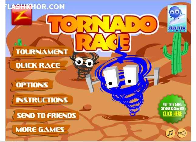 بازی آنلاین مسابقه گردباد ها - مسابقه ای فلش