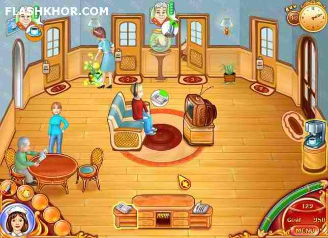 بازی آنلاین هتل خانم جین - دخترانه فلش
