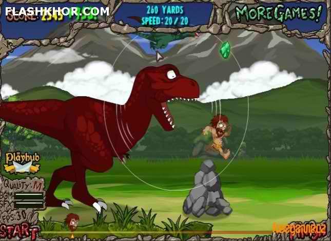 بازی آنلاین وحشت دایناسور ها - ادونچر ماجرایی فلش