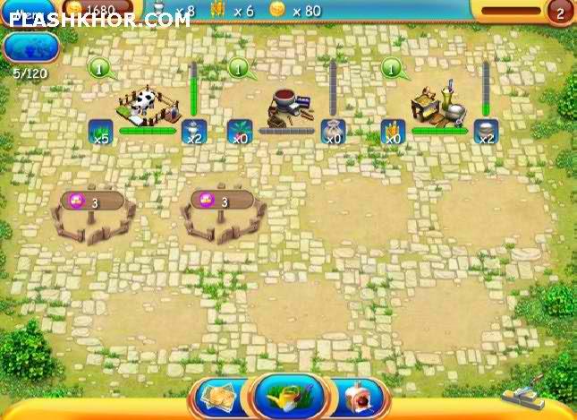 بازی آنلاین سرزمین مزرعه داری ها - دخترانه فلش