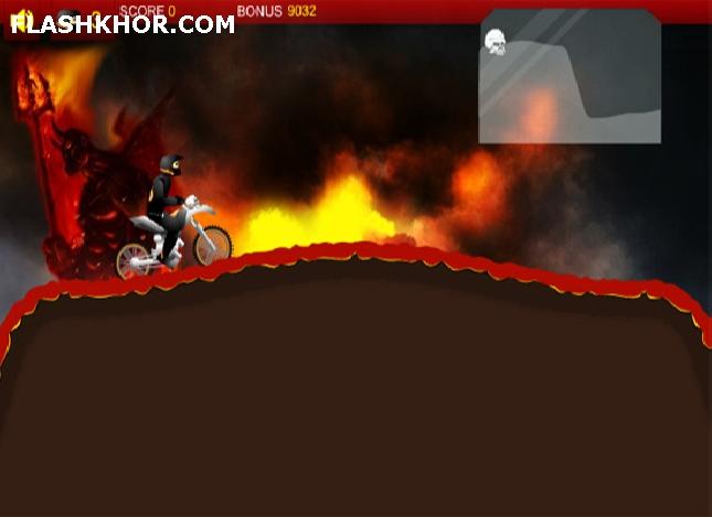 بازی آنلاین موتور سواری در جهنم - ورزشی فلش