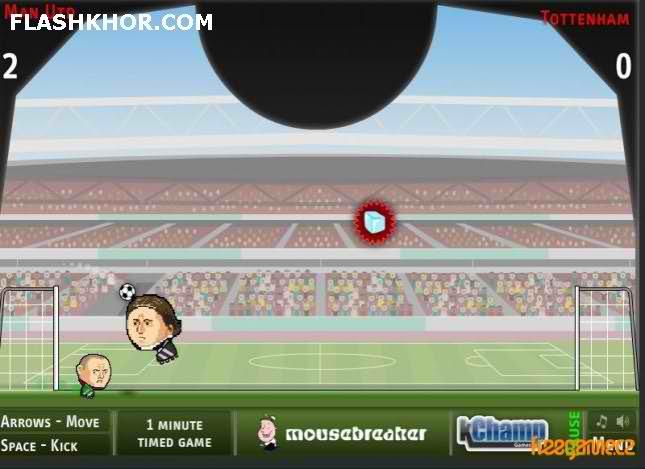 بازی آنلاین فوتبال بین کله ها - ورزشی فلش