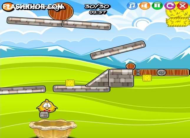 بازی آنلاین نجات جوجه ها 2 - فکری فیزیک فلش
