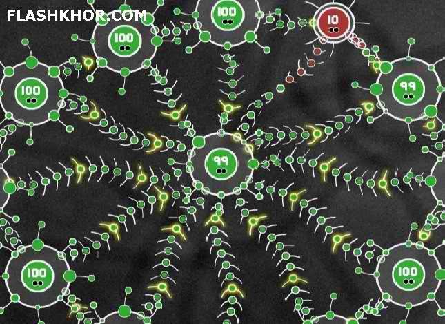 بازی آنلاین جنگ شاخک ها - استراتژی فلش