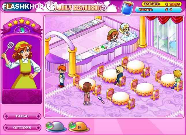 بازی آنلاین رستوران داری خانوادگی - دخترانه فلش