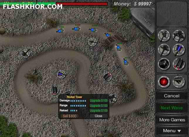 بازی آنلاین برج دفاعی - استراتزی فلش