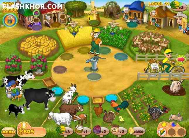 بازی آنلاین عشق مزرعه داری 2 - دخترانه فلش