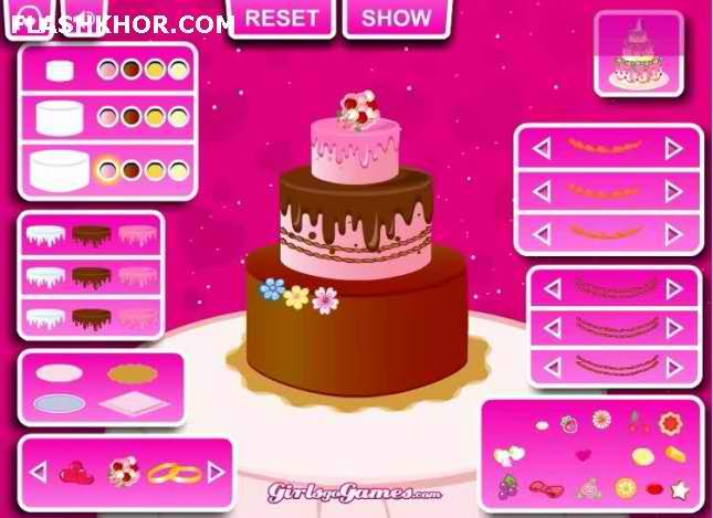 بازی آنلاین تزئین کیک عروسی - آشپزی دخترانه فلش