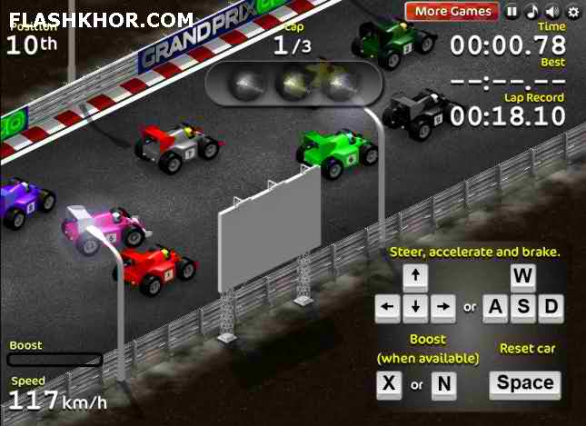 بازی آنلاین مسابقات فرمول یک گرند پریکس - ماشین سواری فراری فلش