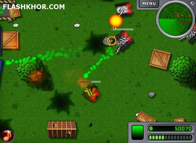 بازی آنلاین تانک ها در نبرد فلش
