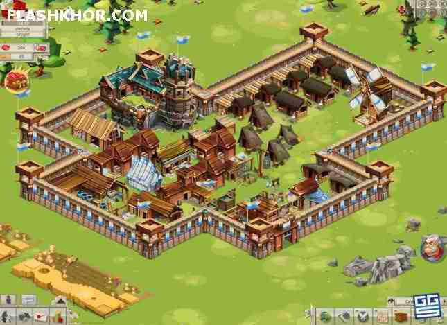 بازی آنلاین امپراطوری پهناور - دو نفره فلش