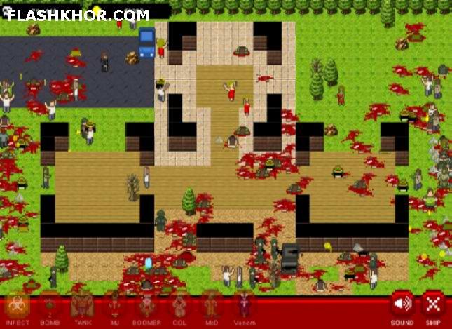 بازی آنلاین تسلط بر جهان با ویروس - استراتژی فلش