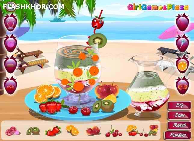 بازی آنلاین آماده کردن آب میوه - دخترانه فلش